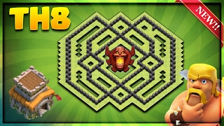 NEW! TOWN HALL 8 (TH8) TROPHY BASE/DEFENSE BASE DESIGN 2017-Clash Of Clans