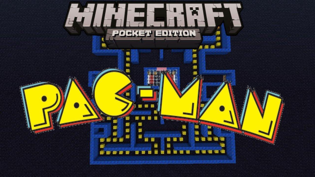 Minecraft Pocket Edition Map Showcase: Pac-Man (Mini Game)