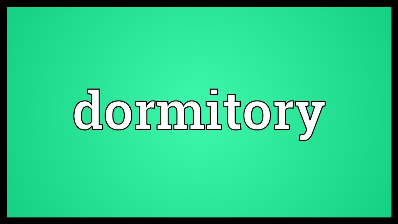 Dormitory Meaning   YouTube Part 76