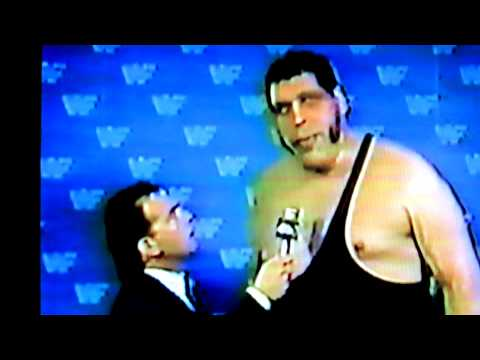 ANDRE THE GIANT INTERVIEW FOR THE MONTREAL FORUM VS THE ULTIMATE WARRIOR