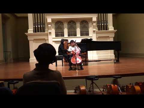 Peabody Preparatory Cello Recital