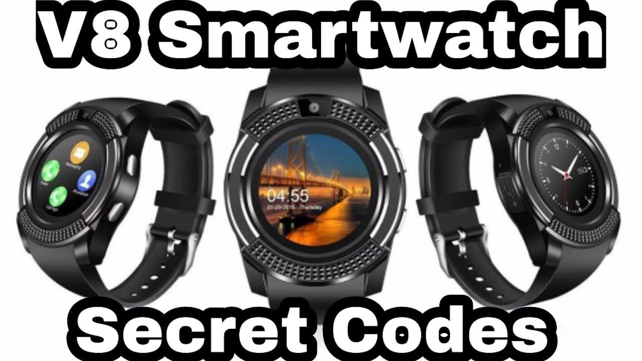 V8 Smartwatch Secret codes