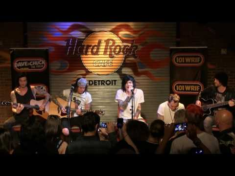 """Asking Alexandria performing """"What I've Done"""" (Acoustic) at the WRIF Rock Girl Finals"""