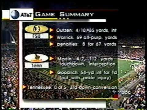 1998 # 1 Tennessee vs # 2 Florida St