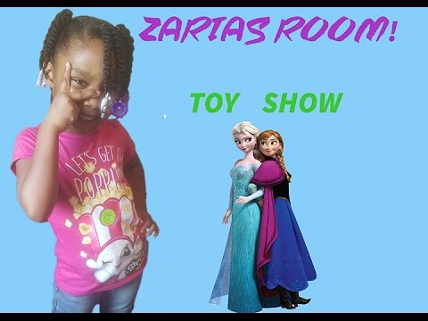 Zaria's Room Toy Show! | The Sleep Over, Frozen & Book Reading.