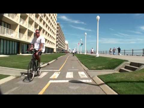 Virginia Beach Virtual Bicycle Tour - Boardwalk from 1st to 25th Street - VaBeach.com