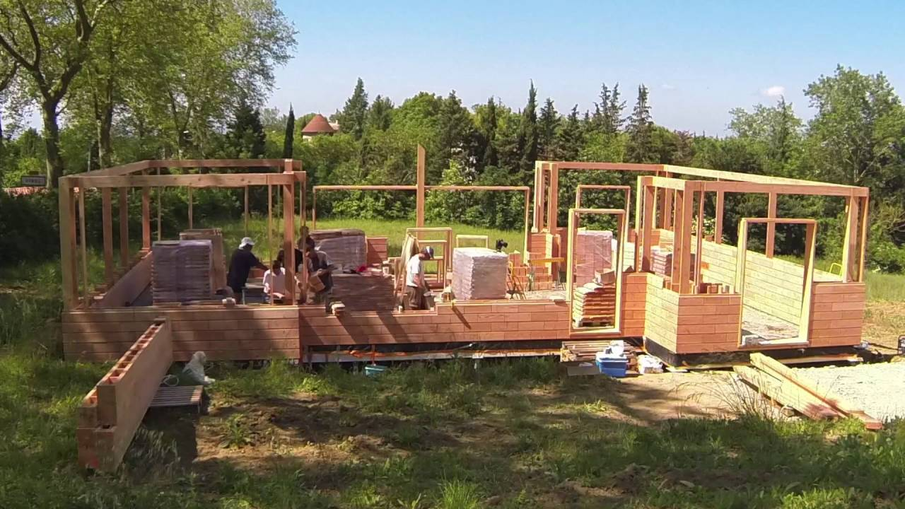 Wooden House Building Bricks