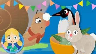 Cecil el Caracol, el Pingüino, el Conejo + otros Animales visitar el Dr. Amapola | dibujos animados para los Niños