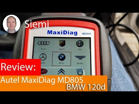 Autel Maxidiag MD805: Reading a BMW 120d with many faults