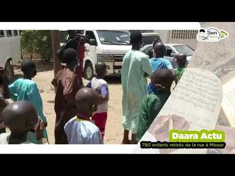Daara ACTU - 790 enfants retirés de la rue à Mbour