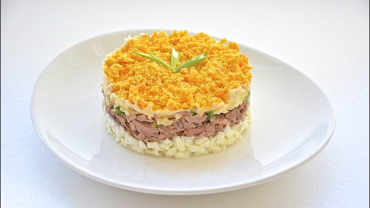 салат мимоза простой рецепт
