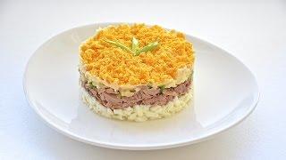 Салат Мимоза - простой рецепт.