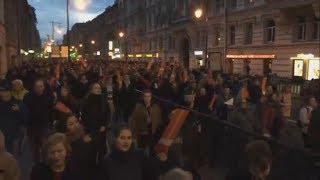 7 октября Санкт-Петербург Шествие и задержания (3 часть)