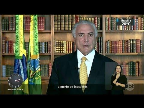 Temer explica intervenção federal no RJ em pronunciamento | SBT Notícias (17/02/18)