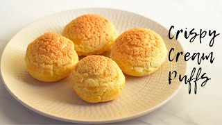 HOW TO MAKE CREAM PUFFS with craqueline  Easy cream puff recipe with craqueline