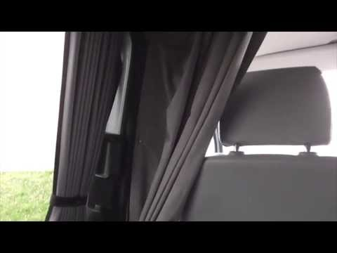 Vw T5 Campervan Cab Curtains Divider Youtube