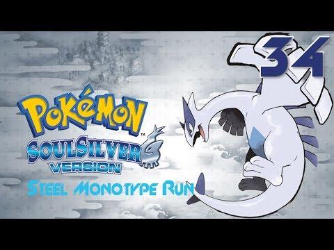 Let's Play Pokemon SoulSilver Steel Monotype Run Part 34 Double Dragon