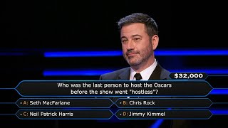 Andy Cohen Asks Jimmy Kimmel About the Oscars - Who Wants To Be A Millionaire