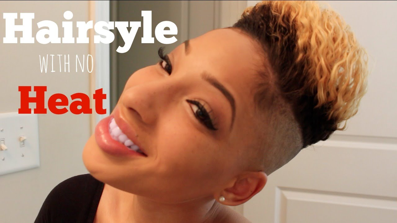 no heat hairstyle | braid out | shaved sides and back - youtube