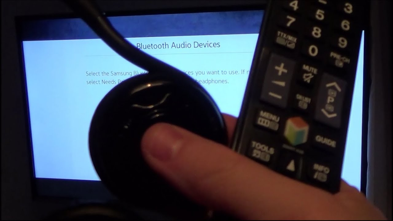 How To Use Bluetooth Headphones On A Samsung Tv 9 Youtube