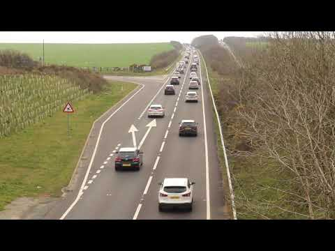 """""""Inconsiderate drivers"""" stopped during Brexit go-slow"""
