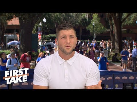 Tim Tebow calls out Alabama's student section | First Take