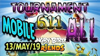 Angry Birds Friends All Levels MOBILE Tournament 611 Highscore POWER UP Walkthrough AngryBirds