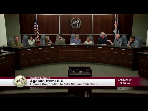 Boulder City Council Meeting 04-18-17