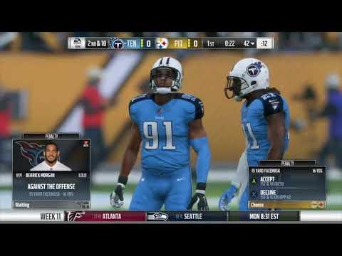 Madden NFL 18 Titans vs Steelers Gameplay