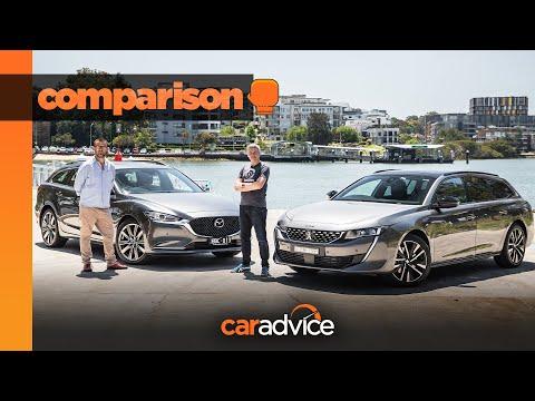 2020 Peugeot 508 GT v Mazda 6 Atenza comparison: wagon showdown | CarAdvice