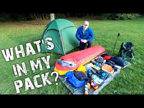 How I Fit All My Backpacking / Wild Camping Gear Into My Osprey Exos 48 Backpack