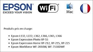 Comment mettre en place les imprimantes Epson d'utiliser le Wi-Fi 2014 (Mac FR)