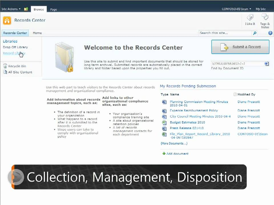 EPC Group - Records Center Site Template SharePoint 2010 ECM - YouTube
