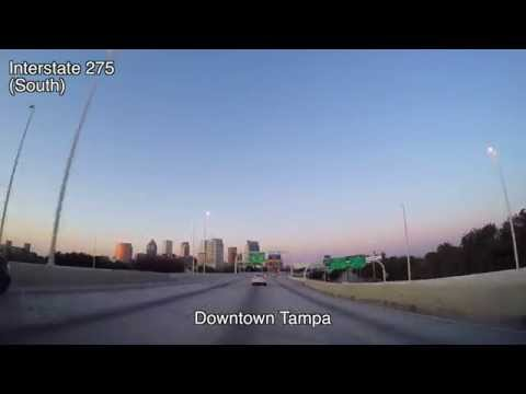 Driving From Tampa to St Petersburg Florida Time Lapse March 2015
