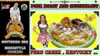 Pork Roast , Sauerkraut , Mashed Taters , And Gravy ...