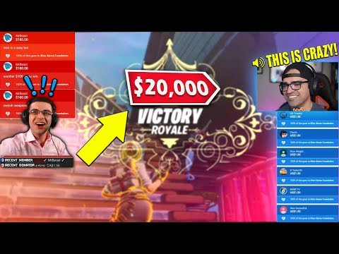 How we raised $20,000 for Charity playing Fortnite! (MrBeast showed up)