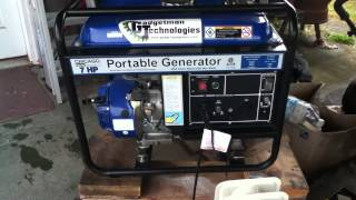 Chicago Electric 3KW Generator - Grooved - 92 Octane