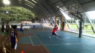 Shooting Drill of Young Basketball