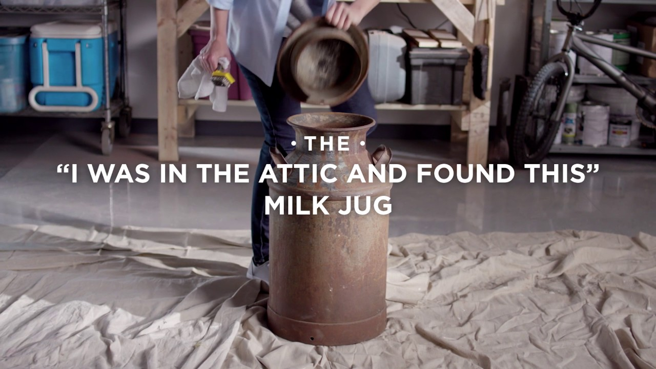 How To Video Turn This Rusty Milk Jug