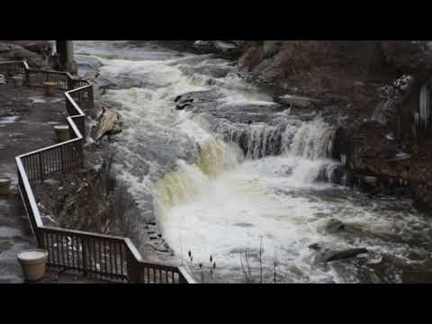 Cuyahoga Falls, OH river at Sheraton Suites Hotel  3/16/18