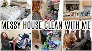 MESSY HOUSE CLEANING MOTIVATION | EXTREME ALL DAY CLEAN WITH ME| TIME LAPSE CLEANING