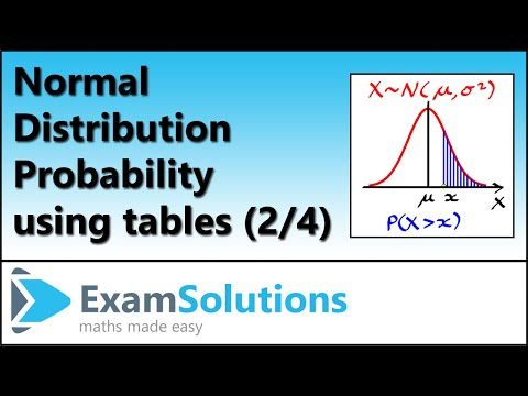 Normal distribution (2) : ExamSolutions