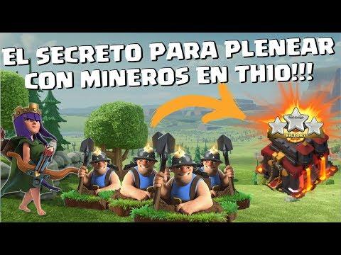 PLENEANDO CON MINEROS EL TH10! SACA 100% SUBTERRÁNEO! (Tutoriales Guerra TH10)