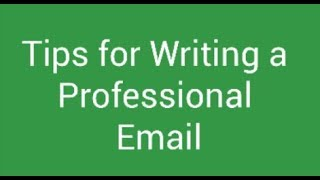 Writing a Professional Email for Students
