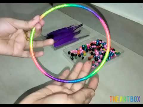 How to make a dream catcher/Detail step-by-step video of dream catcher making/video-1!