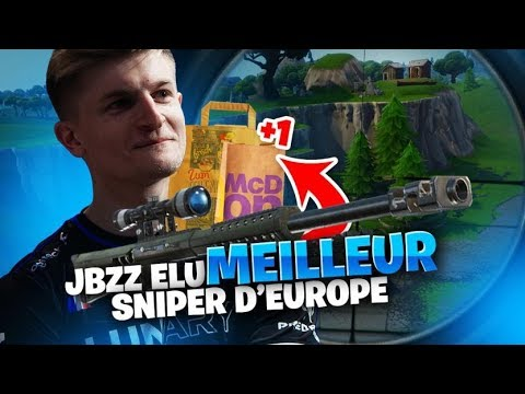jbzz elu meilleur sniper d europe et gagne un macdo - solary fortnite image