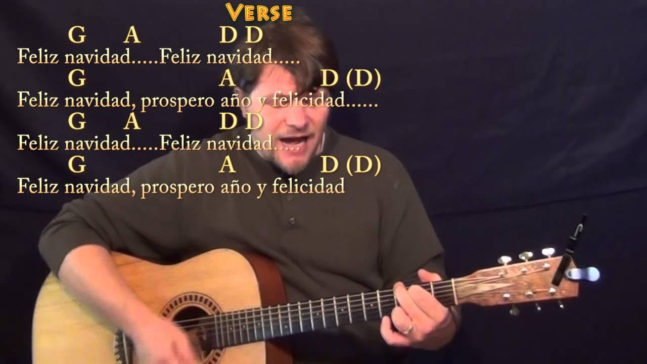Feliz Navidad Strum Guitar Cover Lesson With Chords And Lyrics