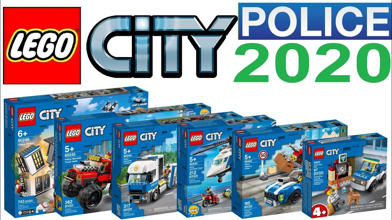 All Lego City Police Sets 2020 Lego Speed Build Review Youtube