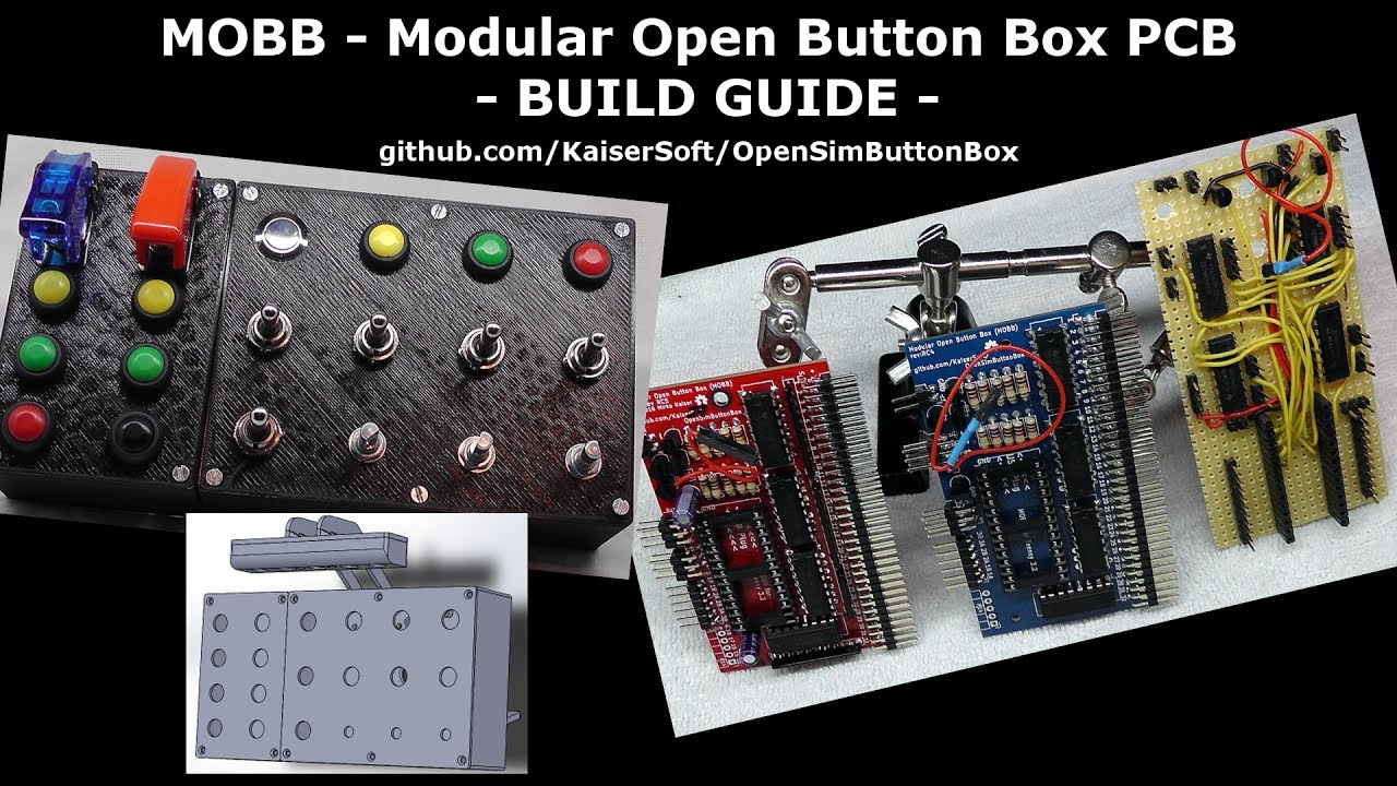 Open Sim Racing Button Box PCB - MOBB Build Guide (DIY)