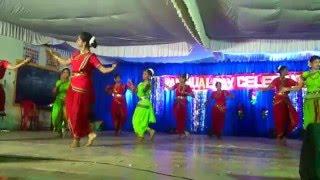 pinga dance by senior students x class 2015 16 batch on kvgb annual day 2016